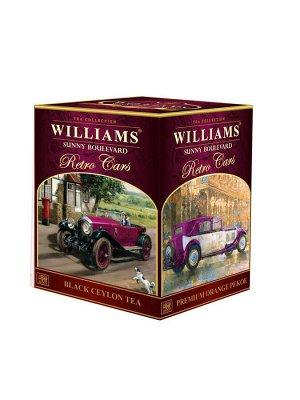 Чай WILLIAMS Retro Cars Солнечный Бульвар Оранж Пеко, 125г