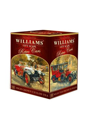 Чай WILLIAMS Retro Cars Городской Пейзаж Премиум Пеко, 150г