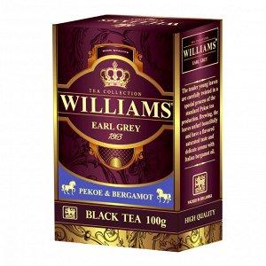 Чай Williams Earl Grey, черный с ароматом бергамота, 100г