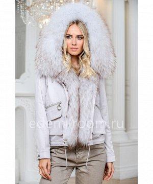 Укороченная парка - куртка с мехом енотаАртикул: EL-82006-60-S-EN