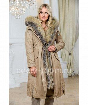 Парка - пальто с мехомАртикул: EL-881-110-KR-P