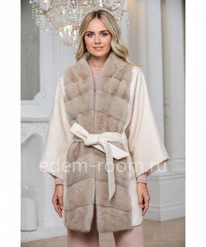 Пальто - кардиган с мехом норкиАртикул: 876-85-BG-N