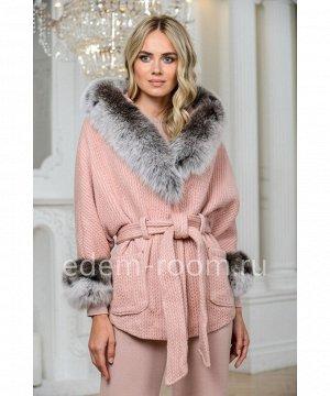 Укороченное пальто из шерсти с поясомАртикул: 324-2-70-R-P