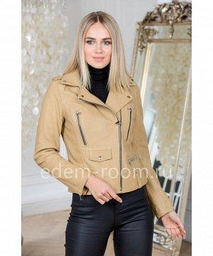 Турецкая куртка из натуральной кожи укороченнаяАртикул: V-1503-55-BG