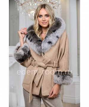 Короткое шерстяное пальто под поясАртикул: 324-2-70-BG-P