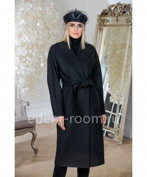 Чёрное пальто под поясАртикул: L-0169-115-CH