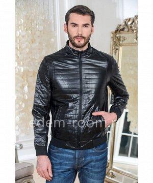 Куртка из эко-кожи на резинкеАртикул: IK-137-70