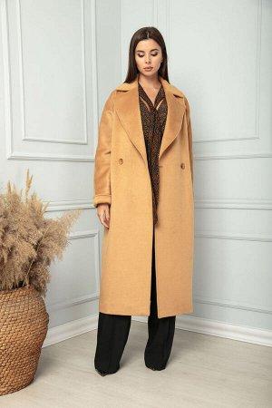 Пальто Пальто SandyNA 13814  Состав ткани: Вискоза-30%; ПЭ-28%; Шерсть-42%;  Рост: 170 см.  Пальто женское прямого силуэта из мягкой шерстяной и вискозной ткани. По переду функциональные карманы и за