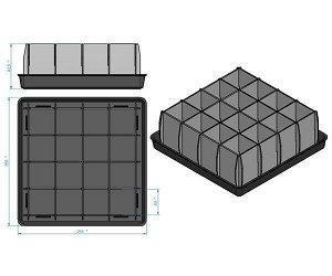 Ящик для рассады 16 ячеек (пластиковый) ЯР-16