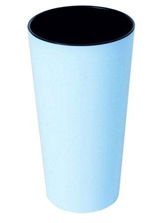Горшок Камелия со вставкой 1,5лит Светло-Голубой