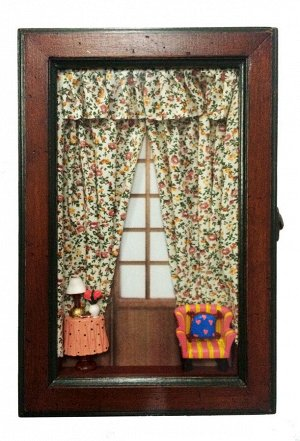 Ключница 30*20*7см KZ-33215 Комната, цветные занавески