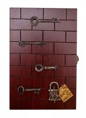 Ключница 30*20*7см KZ-40011 Ключи, замок серебро, кирпичики