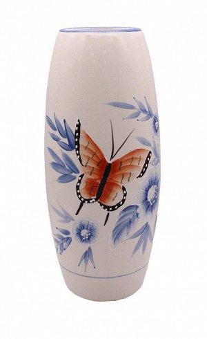 Ваза J24,30-a163 Бабочки Горло узкое