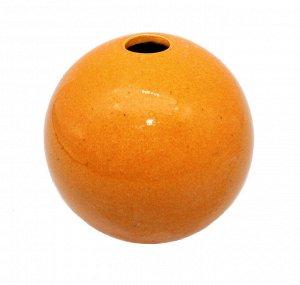 Ваза Шар Оранжевый 10*10см 4111-S