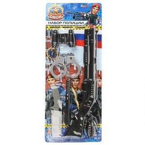 ZY965067-R Набор оружия полиции (автомат+наручники+бинокль+граната+др.) на блистере Играем вместе в кор.2*60шт
