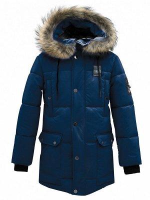 З 20 Куртка - пуховик для мальчика Т.синий