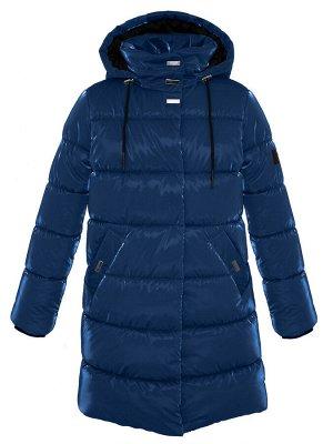 З 20 Пальто - пуховик для девочки Т.синий