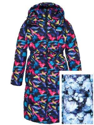 З 20 Пальто - пуховик для девочки ПУДРОВЫЙ