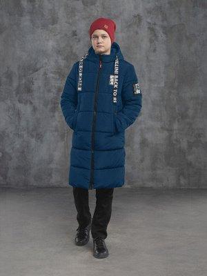 З 20 Пальто - пуховик для мальчика Т.синий