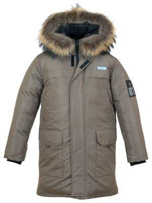 З 20 Пальто - пуховик для мальчика Бежевый