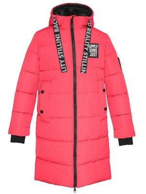 З 20 Пальто - пуховик для девочки Малиновый
