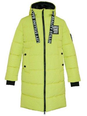 З 20 Пальто - пуховик для девочки Лайм