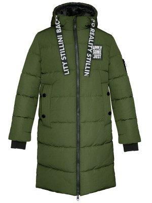 З 20 Пальто - пуховик для девочки Хаки