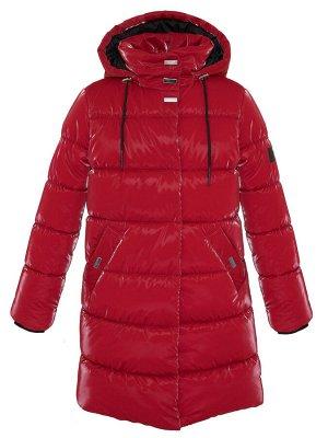 З 20 Пальто - пуховик для девочки Красный