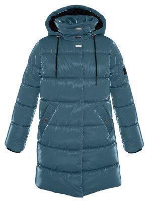 З 20 Пальто - пуховик для девочки Изумруд