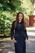 Пальто женское демисезонное 22555  (синий)