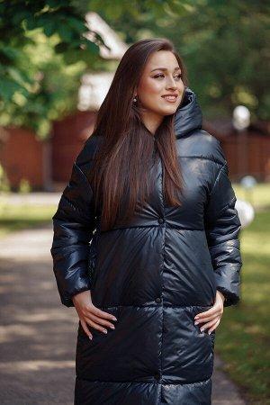 Куртка женская зимняя 22610  (темно-синий)