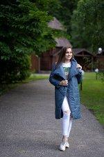 Куртка женская демисезонная 22320  (джинс)