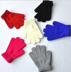 Перчатки На возраст 7-9лет черный-16шт в наличии серый -19шт в наличии