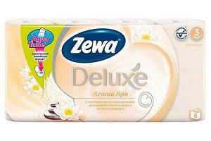 ZEWA (ЗЕВА) ДЕЛЮКС Туалетная бумага 3-х слойная Делюкс Арома Спа (8)