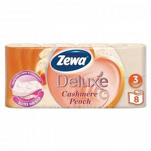ZEWA Deluxe Aroma Spa Туалетная бумага цветная с тиснением и перфорацией цветная с ароматом персика 3 слоя 8 рулонов