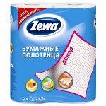 ZEWA (ЗЕВА) Полотенца  бум. 2шт Кухонное Декор*12/144087