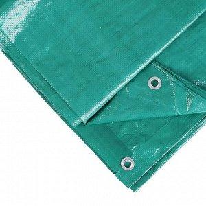 Тент защитный, 6 ? 3 м, плотность 120 г/м?, люверсы шаг 1 м, тарпаулин, УФ, зелёный/серебристый