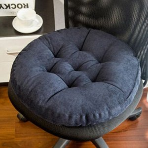 Подушка для стула круглая, темно-синяя
