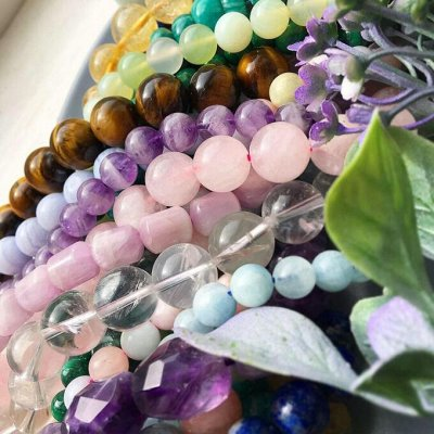 Самоцветы - браслеты из натуральных камней — Бусины — Бижутерия