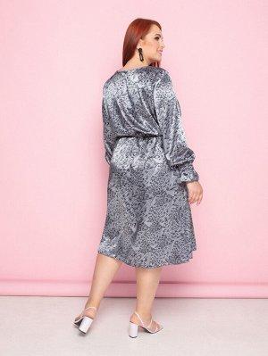 Платье 011-57 серое