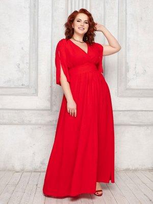 Платье алое 2000-5
