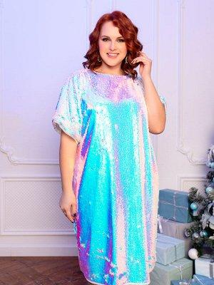 Платье 176-55 перламутр