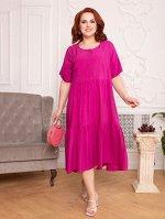 Платье 378-10 фуксия