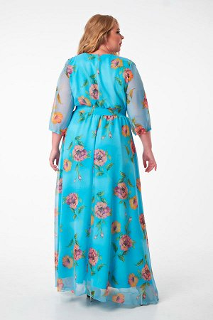 Платье 1000-30 голубое