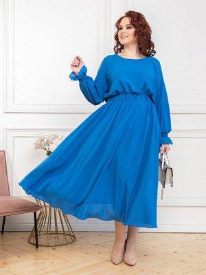 Платье 011-16 голубое