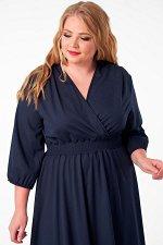 Платье 1000-33 темно-синее