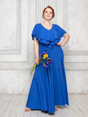 Платье цвет василек 4000-10