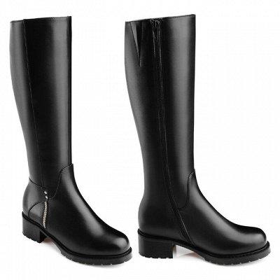 Sateg-8. Обувь из натуральной кожи 33-43 размера — Зима. Женские сапоги, ботфорты