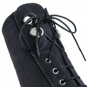 Замшевые серые ботинки со шнуровкой. Модель 3212 б тем серая замша (демисезон)