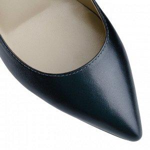Лодочки на серебряном каблуке. Модель 2368 эк графит метал